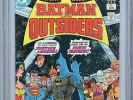 Batman and the Outsiders #1 CGC 9.8 White Pages 2nd App Outsiders DC Comics 1983