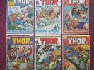 The Mighty THOR Lot includes # 193 196 197 198 199 200 RAGNAROK Marvel 1972