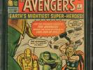 Avengers #1 CGC 5.0 Origin and 1st appearance of the Avengers 1963