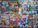 Captain Marvel Lot-19,20,21,22,23,24,36,42,43,44,45,46,47,48,49,50,55,56,57,58