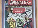 Avengers 1 Sept 1963 CGC 5.0 White Pages Marvel Key