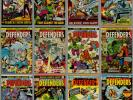 DEFENDERS LOT 122 COMICS FROM #2 THROUGH #124 HULK THOR IRON MAN VF & BETTER