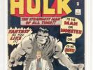 "INCREDIBLE HULK 1 CBCS not CGC 8.5 KEY 1962 ""Exceptional WHITE Pages"""