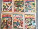 The Mighty World Of Marvel comic book weekly 1970 - # 1 # 2 # 3 # 4 # 5 # 8