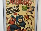 Avengers #4 (1964) CGC Graded 6.0   1st Silver Age Captain America   Stan Lee