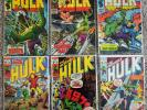 INCREDIBLE HULK LOT OF 6 123 125 126 131 135 142 (2nd VALKYRIE) LEADER IRON MAN