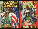 Captain America #117, #118 (Marvel 1969) High Grade 1st app, origin of Falcon