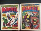 British number ones plus includes Mighty World of Marvel #1 (1972) & #3 (1972)
