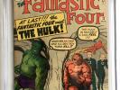 FANTASTIC FOUR #12 CGC 8.5 1ST HULK vs Fantastic Four battle, 2,4 Stan Lee Kirby
