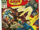 Fantastic Four #62 (May 67) And One Shall Save Them - First App. of Blastaar