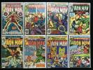 IRON MAN Lot of 8 Marvel Comic Books - #122 127 129 133-135 139 143