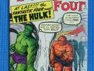 FANTASTIC FOUR  # 12 - (VF-) - 1ST FANTASTIC FOUR/HULK CROSSOVER,THING,TORCH