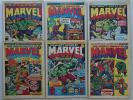 Mighty World of Marvel comic #2, 3, 5, 6, 7, 8 (1972) Generally VG (phil-comics)