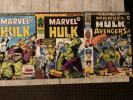 MIGHTY WORLD OF MARVEL 197 198 199  1st UK Wolverine Reprints HULK 181