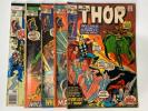 The Mighty Thor 5 Comic Book Lot Marvel #186, 197, 198, 207, 274 AM00381