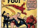 MARVEL, FANTASTIC FOUR Comic Book, Issue #4,  May 1962    1.0 to 3.0-ish Grade