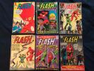 THE FLASH Silver Age Lot of 6 Comics: #138,158,164,177,179 & 204, Average G+