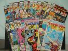 18 Iron Man comics 101 102 103 104 105 to 111 166 168 170 171 172 173 174 Rhodes