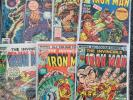 Iron Man Comic Lot 7 Issues 32, 75, 81, 92, 94, 108, 122 Bronze Age Marvel