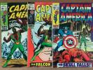 CAPTAIN AMERICA 117 ,118,119  SEE PICS KEY ISSUE