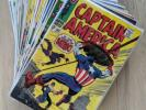 Huge Captain America Silver Age Lot #105 112 118 121 126 127 129 130 131 + More