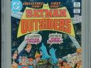 1983 DC BATMAN AND THE OUTSIDERS #1 2ND APPEARANCE OUTSIDERS CGC 9.8 WHITE BOX13