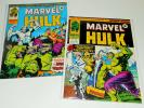 2x MIGHTY WORLD OF MARVEL 197 198 lot 1976 Incredible Hulk 180 181 1st WOLVERINE