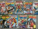 Invincible Iron Man LOT of 9 comics #120 - #128 - most in NM range - Uncertified